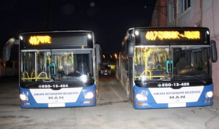Çubuk-Ankara Arası Metrobüs Seferleri Başladı