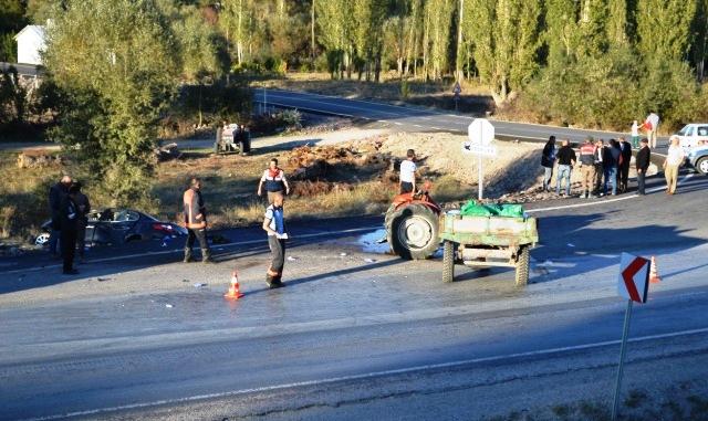 Çubuk Şabanözü Yolunda Kaza 6 Yaralı