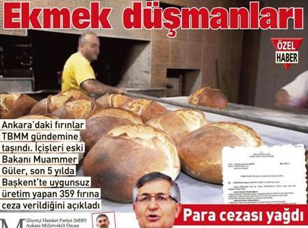 Ekmekte En Fazla Ceza Çubuk'a