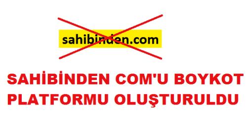 Emlakçılar ve Müteahhitlerden Sahibinden.com'a Boykot