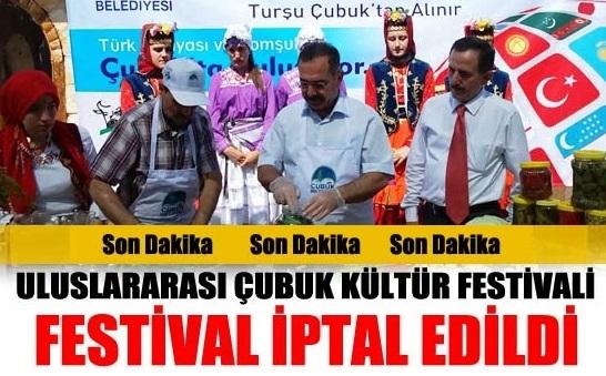 Çubuk Turşu ve Kültür Festivali İptal Edildi